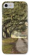 Southern Drive Live Oaks And Spanish Moss IPhone Case by Dustin K Ryan