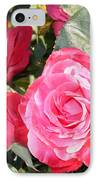 Sparkling Roses IPhone Case by Carol Groenen