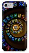 Spiritual Spiral IPhone Case by Inge Johnsson