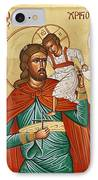 St Christopher IPhone Case by Julia Bridget Hayes