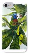 St. Lucia Parrot And Fruit IPhone Case