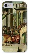 St. Paul Preaching At Athens  IPhone Case by Raphael