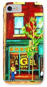 St. Viateur Bagel With Shoppers IPhone Case