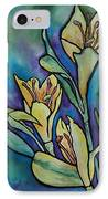 Stained Glass Flowers IPhone Case