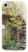 Stairway With Flowers Flavigny France IPhone Case