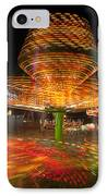 State Fair Rides At Night I IPhone Case by Clarence Holmes