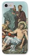 Station Xi Jesus Is Nailed To The Cross IPhone Case by English School