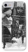 Statue Of Liberty, 1881 IPhone Case by Granger