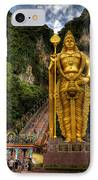 Statue Of Murugan IPhone Case by Adrian Evans