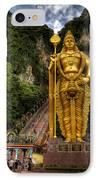 Statue Of Murugan IPhone Case by Adrian Evans