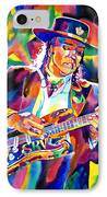 Stevie Ray Vaughan IPhone Case by David Lloyd Glover