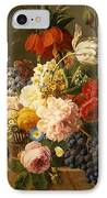 Still Life With Flowers And Fruit IPhone Case by Jan Frans van Dael