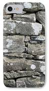 Stone Wall Detail Doolin Ireland IPhone Case