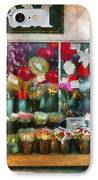Store - Westfield Nj - The Flower Stand IPhone Case by Mike Savad