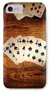 Straight Flush IPhone Case by Olivier Le Queinec