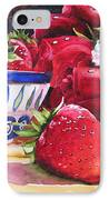 Strawberries And Roses IPhone Case