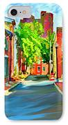 Streetscape In Federal Hill IPhone Case by Stephen Younts