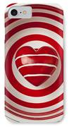 Striped Heart In Bowl IPhone Case by Garry Gay