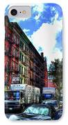 Sullivan Street In Greenwich Village IPhone Case by Randy Aveille