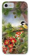 Summer Vine With Pine Tree IPhone Case by Eileen  Fong