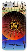 Sun Face Stylized IPhone Case by Robert  G Kernodle