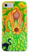 Sunflower Princess IPhone Case by Nick Gustafson