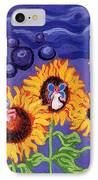 Sunflowers And Faeries IPhone Case