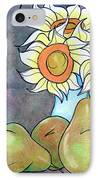 Sunflowers And Pears IPhone Case by Loretta Nash