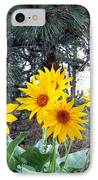 Sunflowers And Pine Cones IPhone Case by Will Borden