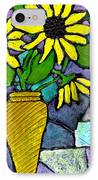 Sunflowers In A Vase IPhone Case