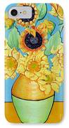 Sunflowers Tribute To Vincent Van Gogh II IPhone Case by Christine Belt