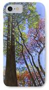 Sunlight On Upper Branches IPhone Case by John Lautermilch