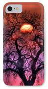 Sunrise Through The Foggy Tree IPhone Case by Scott Mahon