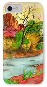 Sunset In Zion IPhone Case by Joanna Aud