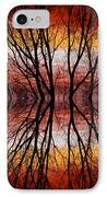 Sunset Tree Silhouette Abstract 2 IPhone Case by James BO  Insogna