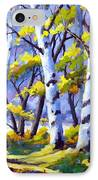 Sunshine And Birches IPhone Case