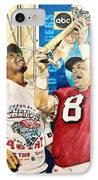 Super Bowl Legends IPhone Case by Lance Gebhardt