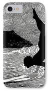 Surfer And Waikiki IPhone Case