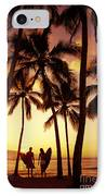 Surfer Couple IPhone Case by Dana Edmunds - Printscapes