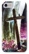 Surreal Crucifixion IPhone Case by Karin Kohlmeier