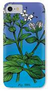 Sweet Marjoram IPhone Case by Eric Edelman