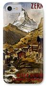 Swiss Travel Poster, 1898 IPhone Case by Granger