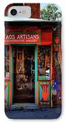 Taos Artisans Gallery IPhone Case by David Patterson