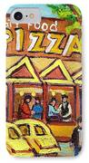 Tasty Food Pizza On Decarie Blvd IPhone Case