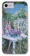 Tea Time In The Garden IPhone Case