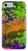 Technicolor Leaves IPhone Case