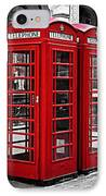 Telephone Boxes In London IPhone Case