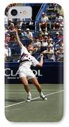 Tennis Serve IPhone Case by Sally Weigand