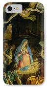 The Adoration Of The Shepherds IPhone Case by Federico Zuccaro