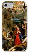 The Adoration Of The Shepherds IPhone Case by Fray Juan Batista Maino or Mayno